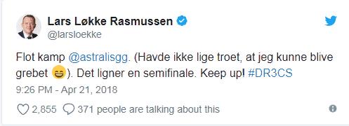Поздравление Расмуссена