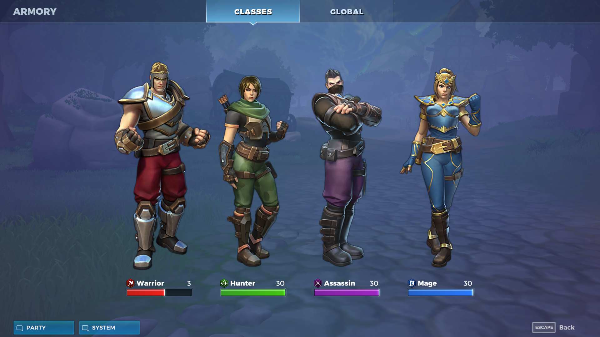 Realm Royale Playable Classes