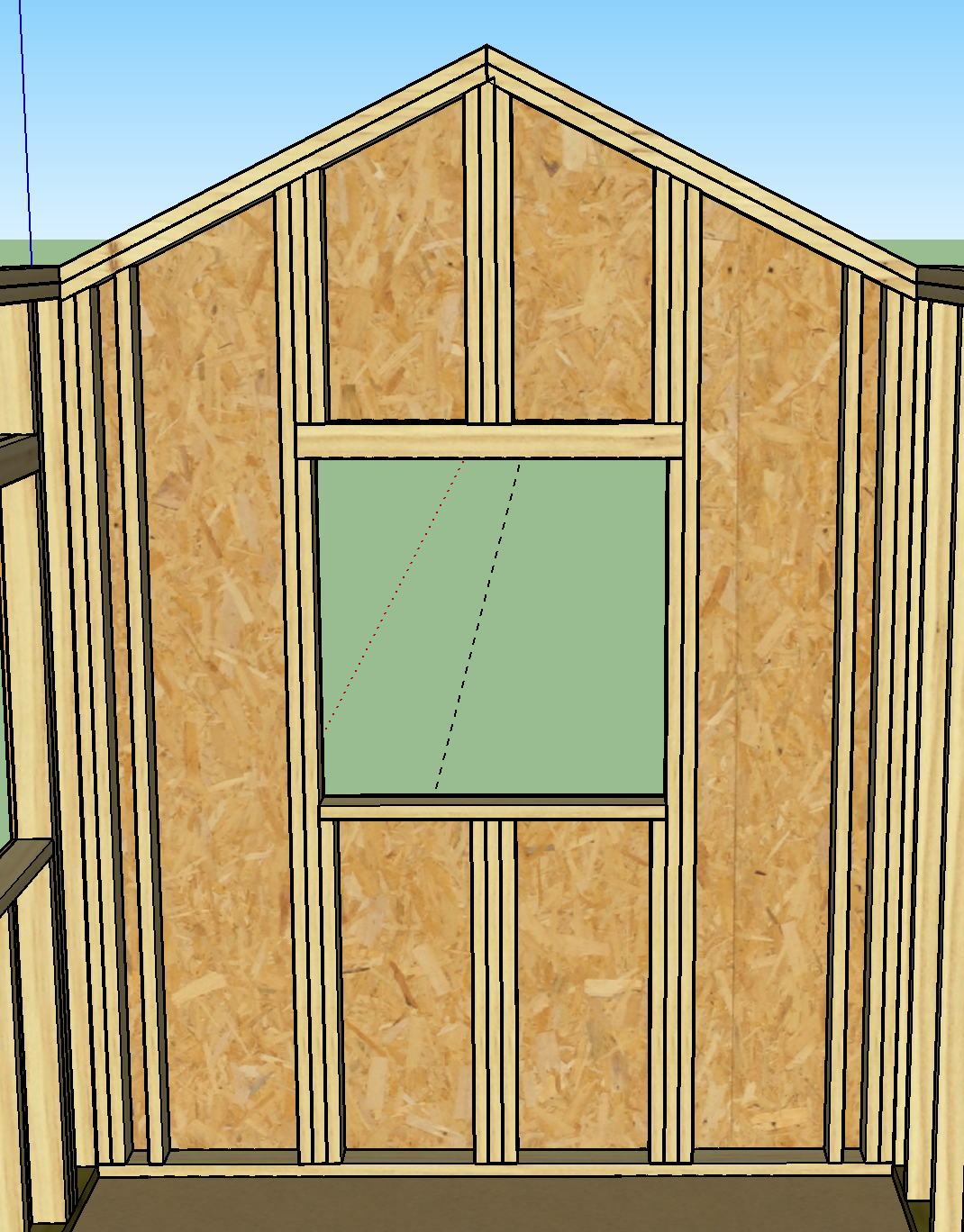 Desired gable wall framing