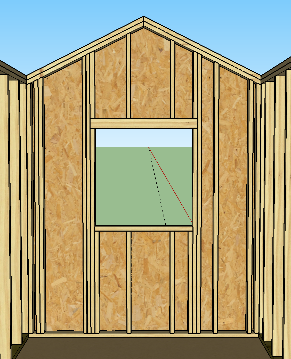 Framer gable wall framing