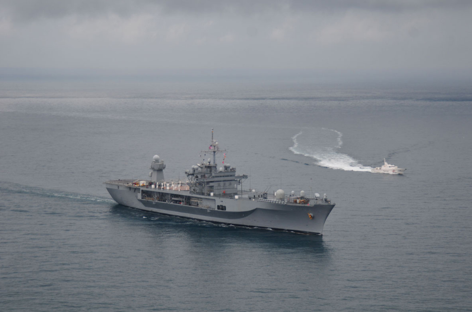 Командный корабль 6-го оперативного флота ВМС США прибыл в Восточное Средиземноморье