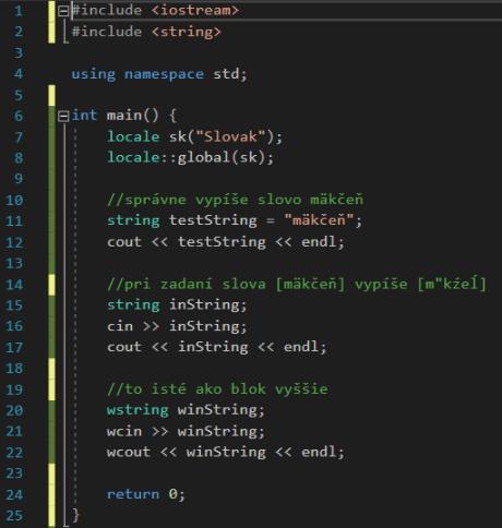 C++ diakritika pri vstupe