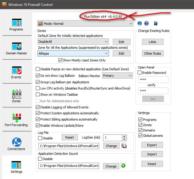 sphinx softwares windows firewall control
