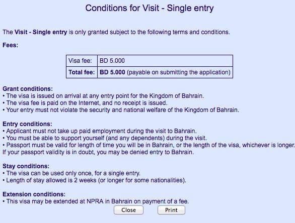 bahrain_visa_fee
