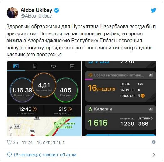В Сети появились данные о здоровье Назарбаева