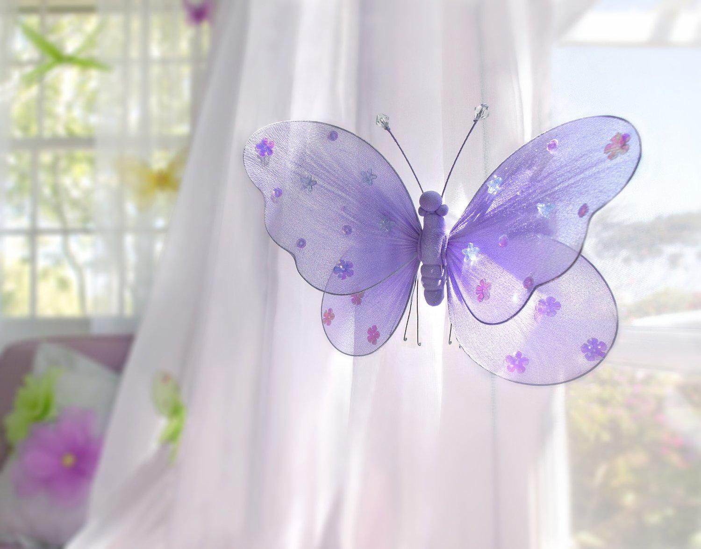 Как сделать бабочку из ткани на штору