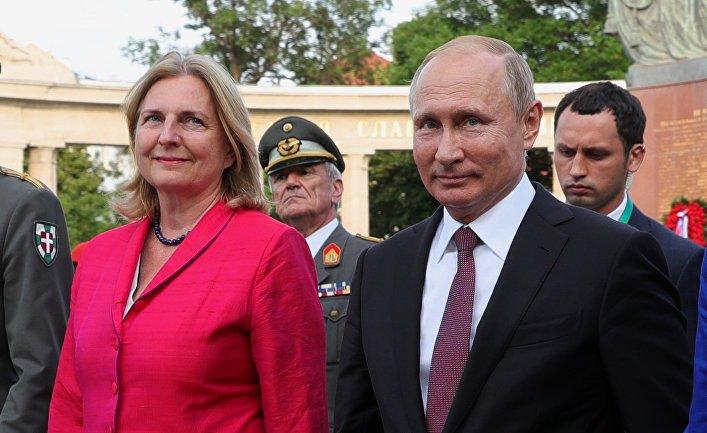 Австрийский министр довела до истерики МИД Украины
