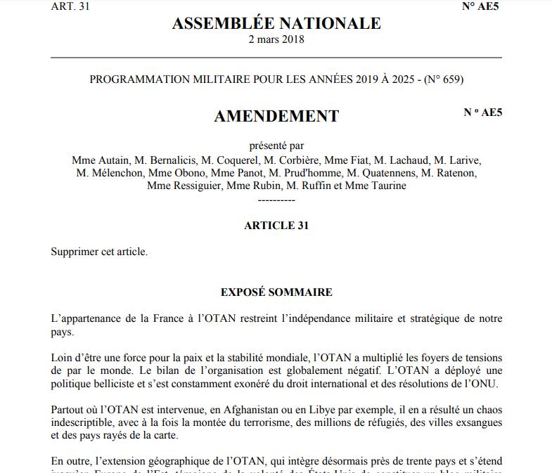 Во Франции предложили объявить независимость от НАТО